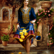 دانلود فایل نقشه کامپیوتری فرش دستبافت طرح زن زیبای ایرانی با لباس سنتی